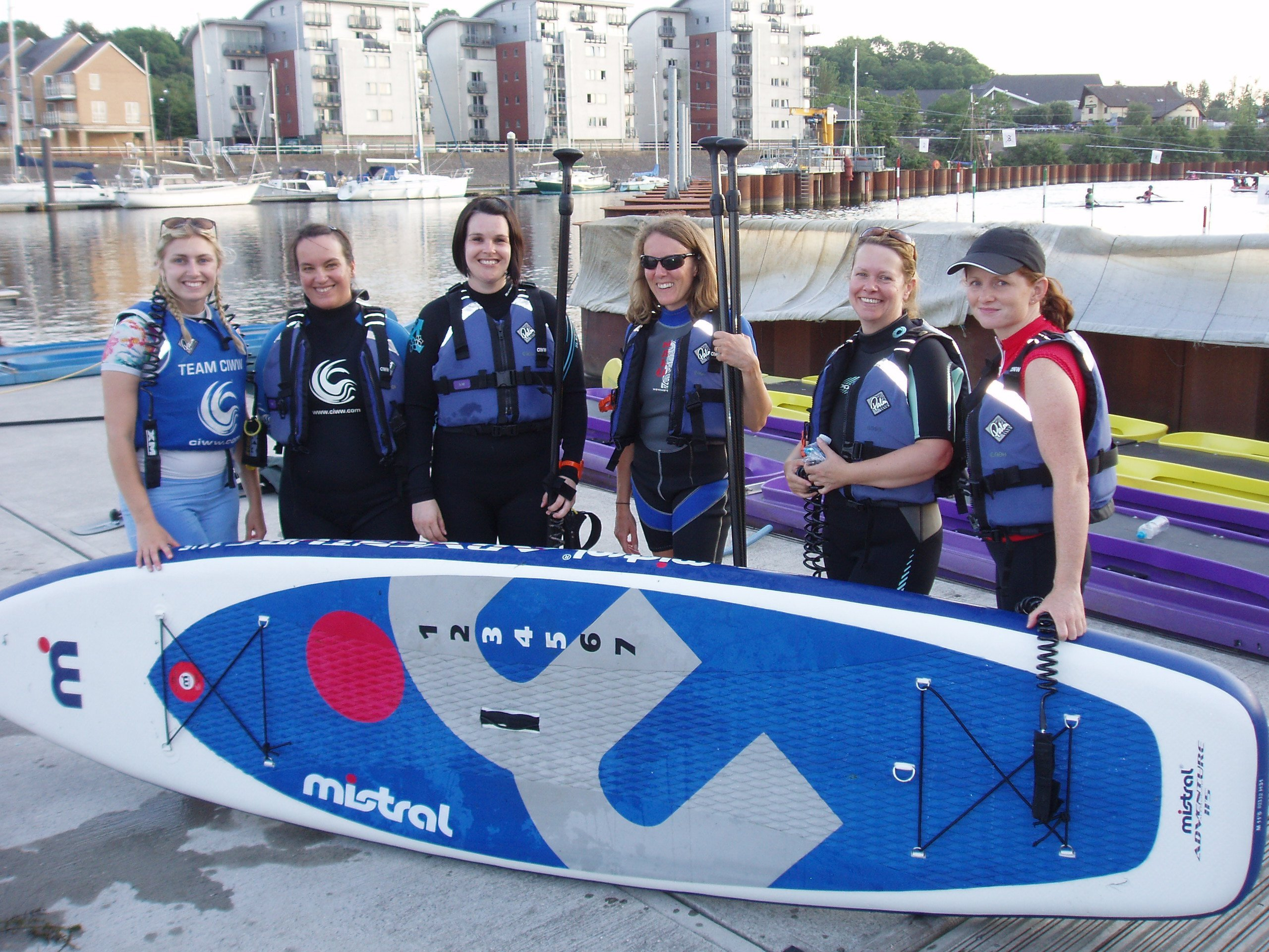Womens SUP at CIWW Cardiff Wales