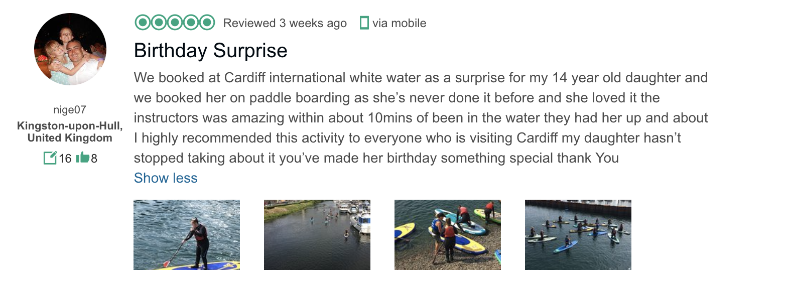 CIWW TripAdvisor birthday review summer 2018